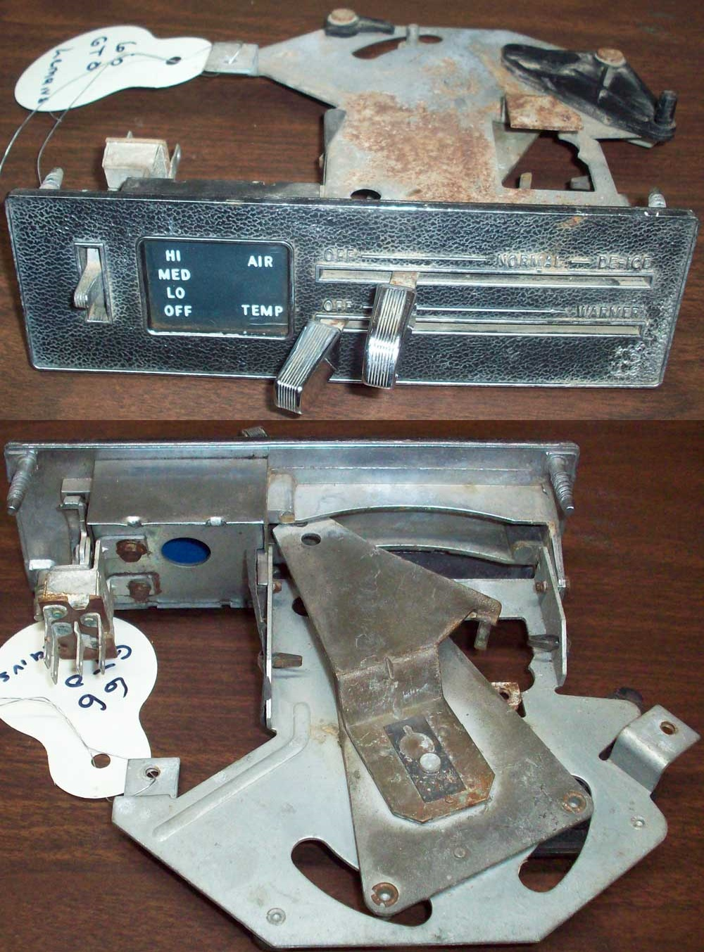 Ctc Auto Ranch Misc Parts Pontiac 2 4 Engine Diagram Ac Low Port 1966 Gto Lemans Heater Control