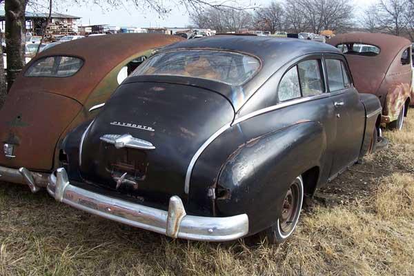 1950 plymouth 2 door sedan fastback lh rear fender nos for 1950 plymouth 2 door coupe