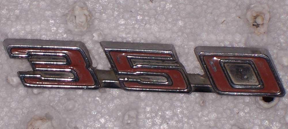 Pontiac 350 Emblem : Pontiac tempest lemans custom s fender script